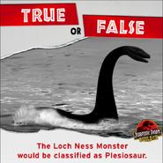 Loch Ness Monster Plesiosaur true or false
