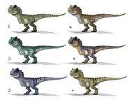 JW Camp Cretaceous Bumpy Carnotaurus Concept Art