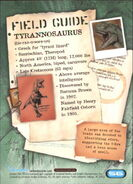 2001 Jurassic Park III 3-D 56 Tyrannosaurus back