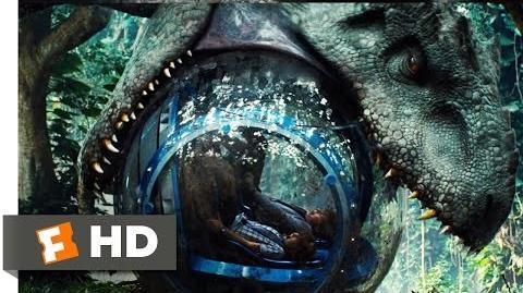 Jurassic World (2015) - Indominus Attacks the Gyrosphere Scene (3 10) Movieclips