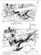 TLWJP storyboard of fast pan Pachycephalosaurus