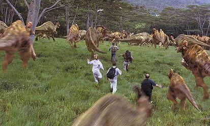 Stampeding herd of hadrosaurs.jpg