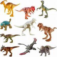 JW Camp Cretaceous Mattel Mini Dinosaurs 10 Piece Set
