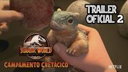 Jurassic World Camp Cretaceous Campamento Cretacico Trailer Oficial 2 Español Latino Netflix