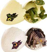 Mattel T. rex and Stegosaurus hatchling