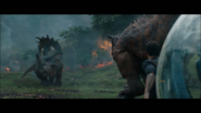 Carnotaurus hunting Sinoceratops