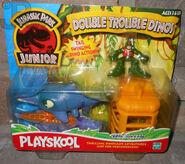 JP jr Ichtyosaurus and Deinosuchus playset
