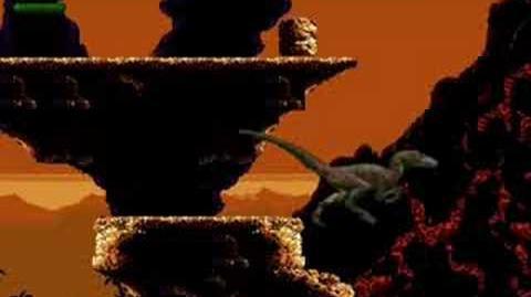 Jurassic Park (Sega MD Sega Genesis) - (Raptor Mission 4 - The Canyon Hard Difficulty)