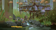 Camp Cretaceous Lodge Concept Art 10