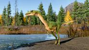 Coelophysis in Jurassic World Evolution 2