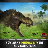 How many dinosaurs were in Jurassic Park