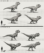 JW Camp Cretaceous Bumpy Baby Allosaurus and Cryolophosaurus Extra Sketches