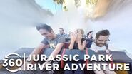 360 VIDEO Jurassic Park River Adventure Islands of Adventure