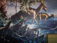 Parasaurolophus & Dilophosaurus