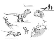 JW Camp Cretaceous Bumpy Carnotaurus Rough Sketch