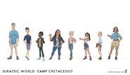 JW- Camp Cretaceous Season 1 Characters Concept Art