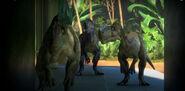 Monolophosaurus trio