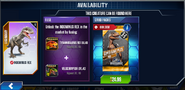 Indominus rex Availability