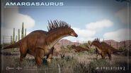 Amargasaurus herd