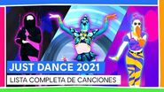 JUST DANCE 2021 - LISTA COMPLETA DE CANCIONES