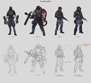 Black Hand early concept art