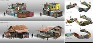 JC4 development of civilian shacks and barricades