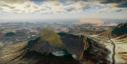 JC4 giant smoking crater in the desert