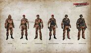 Medici Military soldier types