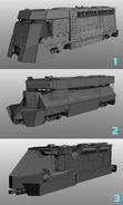 JC4 3 cut concept for the locomotive