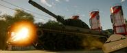 Treaded Tank Possibly Damaged