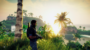 Just Cause 4 cinematic sunset