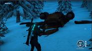 Crashed Golden Urga Mstitel (front view)