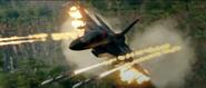 JC4 screenshot from trailer fighter jet firing missiles