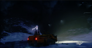 JC4 Strorm truck with lighning ball at night