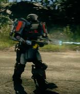 JC4 titan with a railgun