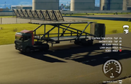 JC4 truck with car transporter trailer