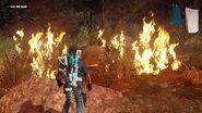 Campsite on Fire