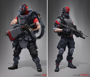 JC4 concept of Black Hand gun and private soldiers