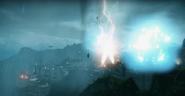 JC4 powerful blue lightning strike