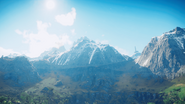 JC4 snow mountains and trees