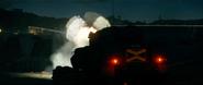 Treaded Tank Firing Rear