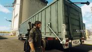 Cargo trailer truck (loading panel detail)