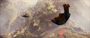 JC3 skydiving after fighter