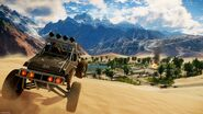 JC4 buggy at a desert town