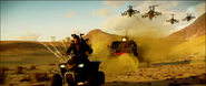 JC4 Rico is chased in the desert, in the story trailer