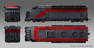 JC4 locomotive (drawing with 4 views)
