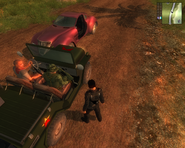 JC1 Guerrilla soldiers visibly armed while driving