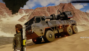 JC4 artillery truck (front corner)
