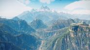 Solis cinematic shot (jungle, snowy mountains, Illapa)