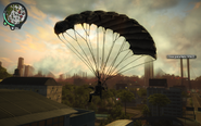 Parachuting at Panau City